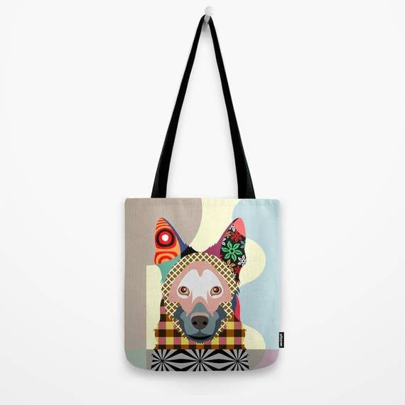 German Shepherd Gift, German Shepherd Dog Tote Bag, Dog Tote Bag, Dog Lover Gift, Animal Lover Gift
