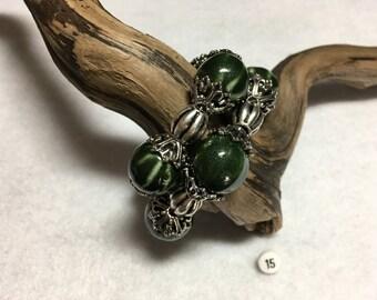 Hunter Green Porcelain Wrist Wrap