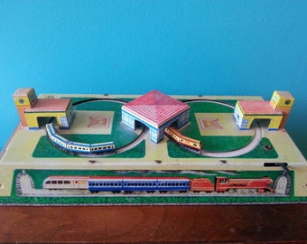 Tin Wind Up Toy Train Made in Russia