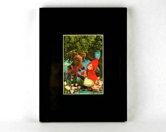 Framed Holograph Little Red Riding Hood Fairy Tale Art Picture