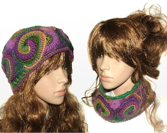 Ear Warmers,  Crochet Ear Warmers, Freeform Crochet headband Womens Headband Ear warmers Cowl Freeform Crochet OOAK in Multi Colors
