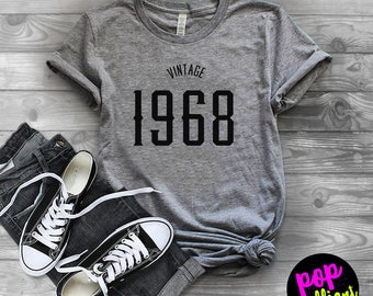 50th Birthday Gift For Women & Men - 50th Birthday Shirt - Vintage 1968 T-Shirt-50th Birthday Graphic Tee-50th Birthday Gift ideas-Tees A157