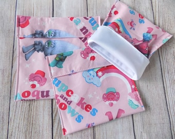 Trolls Reusable snack bags