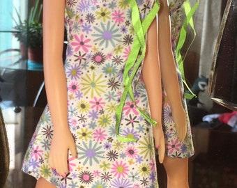 Anouk Sommer-Kleid-Baumwoll-Stoff mit Haarband