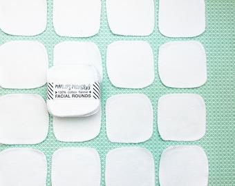 """20 Reusable 3"""" facial rounds. White."""