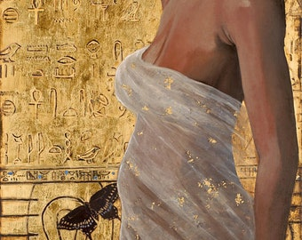 """Isis One who is All - Reproduction Giclee on canvas 24""""x48"""""""