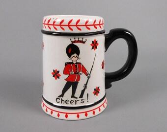 Beer Mug Ceramic 1950's Barware Uniformed Guard Cheers
