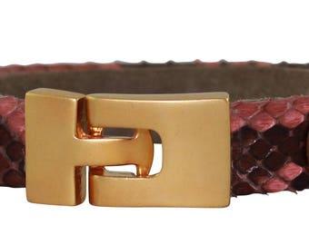 Python Bracelet, Python Cuff, BAJ 496 G Pink