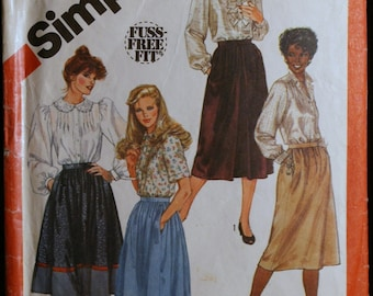 Simplicity 5662 Misses Set of Skirts in 2 Lengths Vintage 80s Sewing Pattern Sz 14