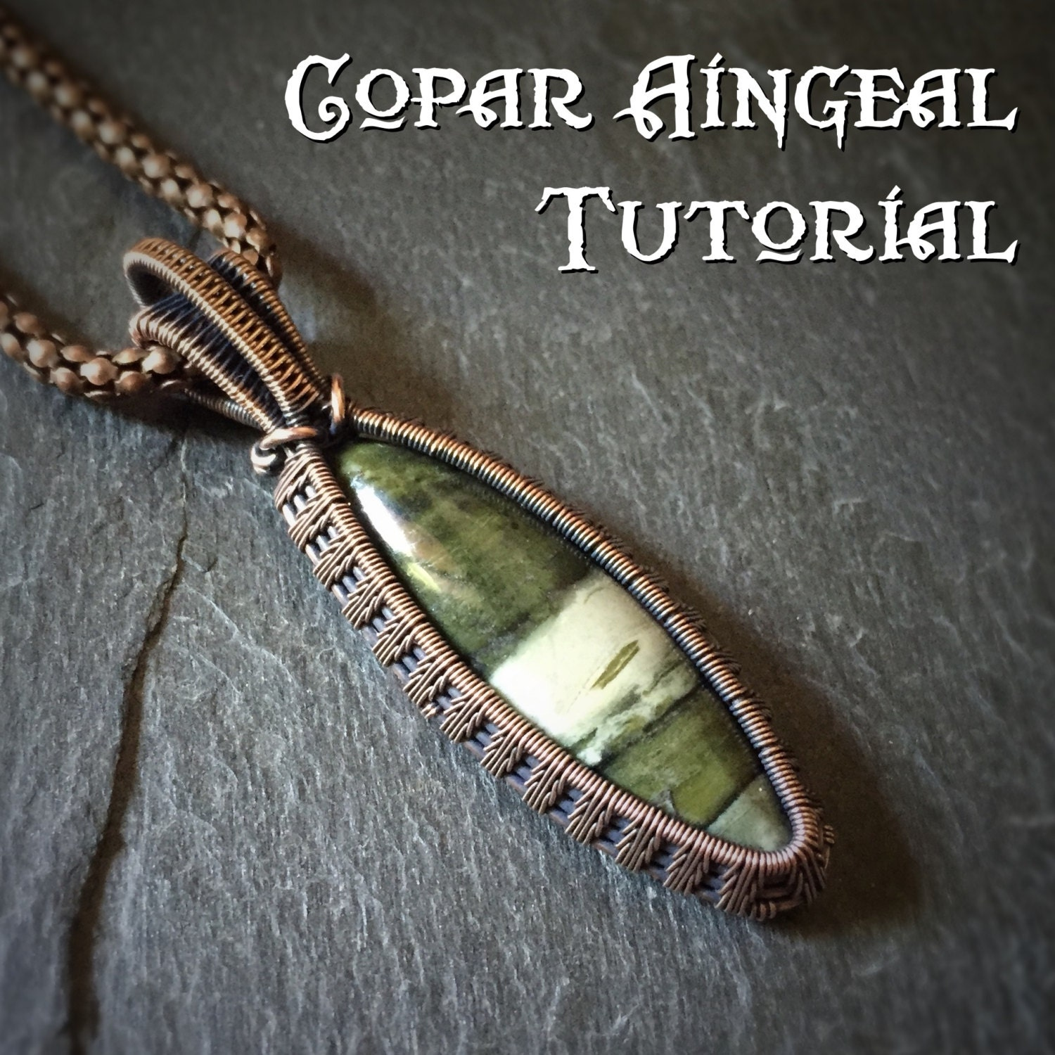 Tutorial fern weave pendant wire wrapping jewelry zoom aloadofball