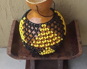 Sekere (large Yoruba-style netted gourd rattle)        FREE DOMESTIC SHIPPING