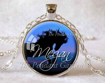 CUSTOM HORSE PENDANT Personalized Horse Necklace Personalized Necklace Horse Jewelry Horse Lover Gift for Horse Lover Equestrian Jewelry