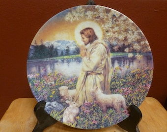 garden of the Lord plate by W S George titled Love One Another 1992