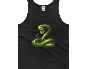 A Beautiful Green Snake Poison Tank top