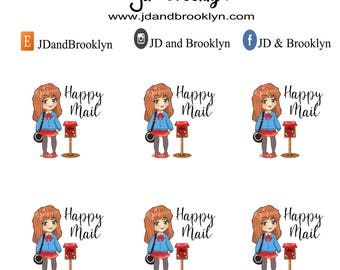Happy Mail planner sticker sheet