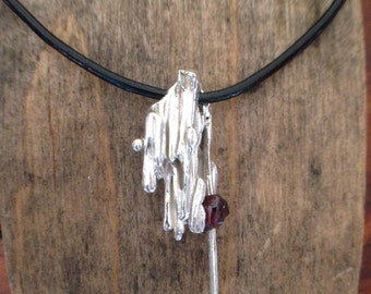UnEarthed sterling silver straw necklace