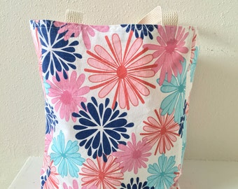 Floral Canvas Tote/ Bag/ Purse