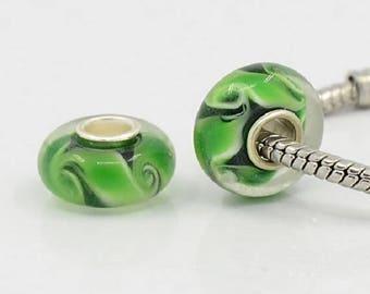 2 beads 14 mm Murano glass