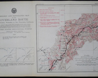 1916 Roseville to Marysville California Railroad Map. Yuba