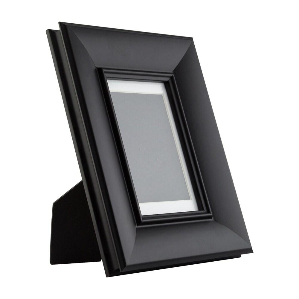 Craig Frames, 4x6 Inch Vintage Black Standing Picture Frame, Mat ...