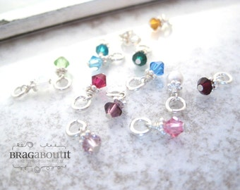 A La Carte . Add A Birthstone . Swarovski Crystal Birthstone with Sterling Silver Findings