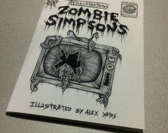 zombie Simpsons art book/ horror zine