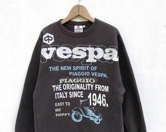 """20% OFF Vintage Vespa Piaggio Women Sweatshirt / Piaggio Italy / Mods / Armpit 21"""""""