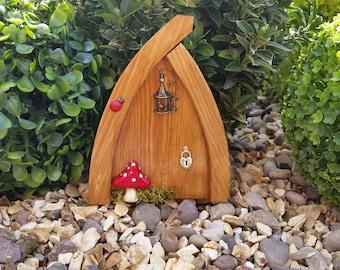 Outside/Indoor garden Fairy Door Elf Door Bird Cage Beautiful Handmade Fairy Garden Magical Portal