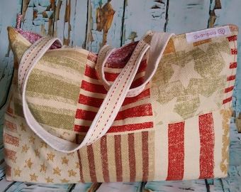 Summer bag in light and large sturdy cotton canvas