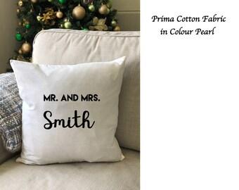 Custom Cushion Cover, Personalised Cushion Cover, Wedding Gift, Anniversary Gift, Engagement Gift, Housewarming, Birthday Gift, Mum's Gift