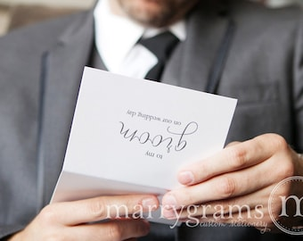 Wedding Card to Your Groom on Your (Our) Wedding Day- Groom Gift for Wedding Day - To My Groom CS01