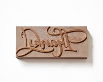 Letterpress Thanks - Wood type