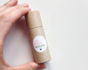 Lip Balm Matcha | Shea, Green Tea Powder, Vanilla, Lemon | Twinkle Apothecary | Vegan & Cruelty Free Skincare | Eco-Friendly Package