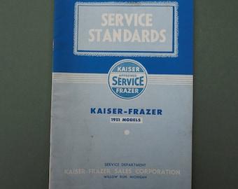 1951 KAISER-FRAZER Service Standards Specifications RARE manual