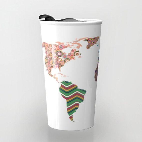 World map travel mug cute travel mug ceramic mug unique world map travel mug cute travel mug ceramic mug unique coffee mugs tea mug travel gift gumiabroncs Image collections