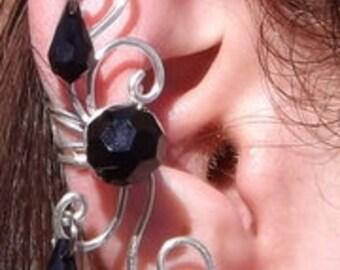 Silver Swirl Ear Cuff