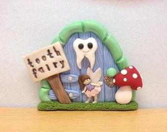 Tooth Fairy Door, Fairy Decoration, Blue Tooth Fairy Door For Boys