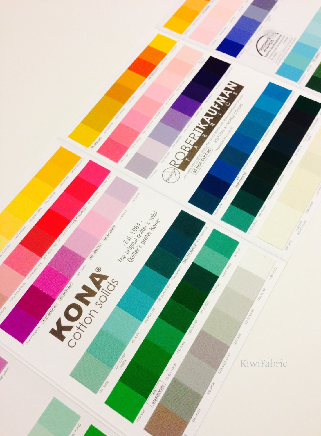 Kona cotton color card 303 colors robert kaufman k001c 714 from 400 shipping nvjuhfo Images