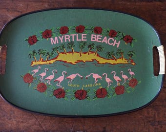 Myrtle Beach South Carolina Tray/Flamingo