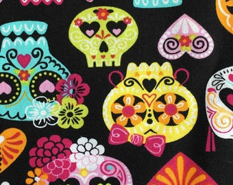 Sugar Skull Custom Made Fitted Crib Sheets and Pillow Cases