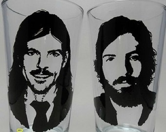 Hand Painted Glass, Painted Pint Glasses, Avett Brothers, Music