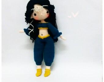 Crochet Garage, Crochet doll pattern / Amigurumi doll pattern - CAMELIA