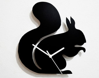 Squirrel Silhouette - Wall Clock
