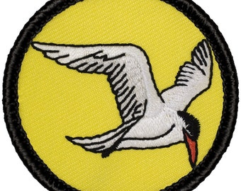 Arctic Tern Patch - 2 Inch Diameter Embroidered Patch