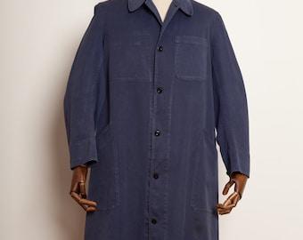 1950's French Blouse Coat Indigo