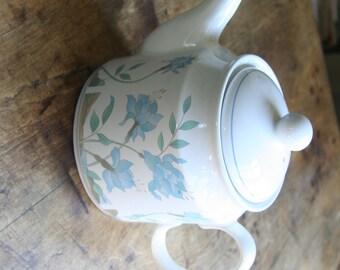 Vintage Sadler Blue Floral Teapot Made in England
