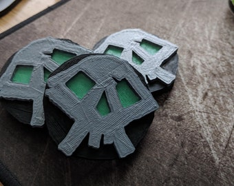 Skeleton Fortress Key - Sea of Thieves (3D printed, hand painted)