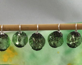Vintage bead stitch markers for knitting