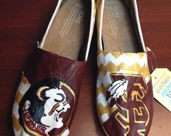 Florida State University Custom Painted Toms