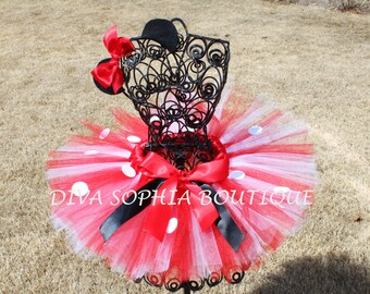 Minnie Mouse Tutu Set - Newborn - Baby Infant Toddler up to size 4T -  Birthday
